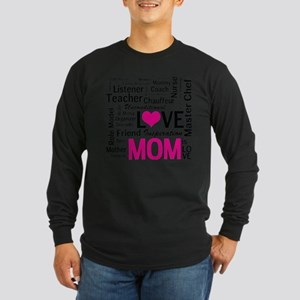Mom is Love - Birthday, M Long Sleeve Dark T-Shirt